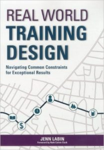 Real World Training Design Book by Jenn Terp